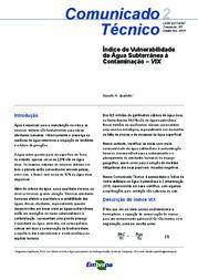 Índice de Vulnerabilidade de Água Subterrânea à Contaminação – VIX
