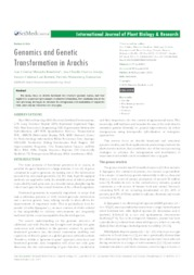 Thumbnail de Genomics and genetic transformation in arachis.