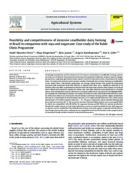 Thumbnail de Feasibility and competitiveness of intensive smallholder dairy farming in Brazil in comparison with soya and sugarcane: case study of the Balde Cheio Programme.