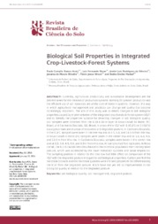 Thumbnail de Biological soil properties in integrated crop-livestock-forest systems.