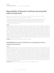 Thumbnail de Repeatability of biometric and fruit and seed yield traits of sacha inchi.