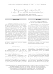 Thumbnail de Performance of grain sorghum hybrids in soils with low and high aluminum saturation.