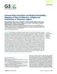 Thumbnail de Genome-wide association and regional heritability mapping of plant architecture, lodging and productivity in Phaseolus vulgaris.