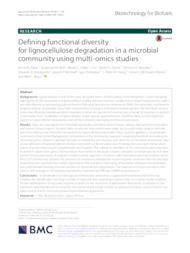 Thumbnail de Defining functional diversity for lignocellulose degradation in a microbial community using multi-omics studies.
