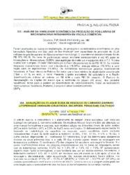 Avaliação da silagem ácida de resíduos do camarão marinho