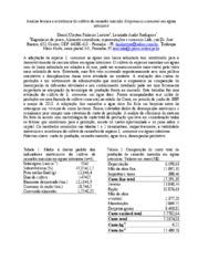 Analise técnica e econômica do cultivo de camarão marinho