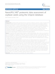 Thumbnail de NanoUPLC-MSE proteomic data assessment of soybean seeds using the Uniprot database.