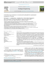 Thumbnail de Greenhouse gas emission in constructed wetlands for wastewater treatment: a review.