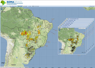 Imagem de System to Observe and Monitor Agriculture in Brazil (SOMABRASIL)
