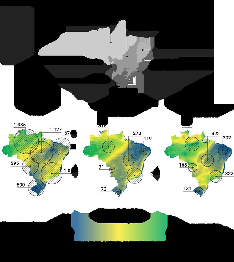 número de espécies por biomas no Brasil