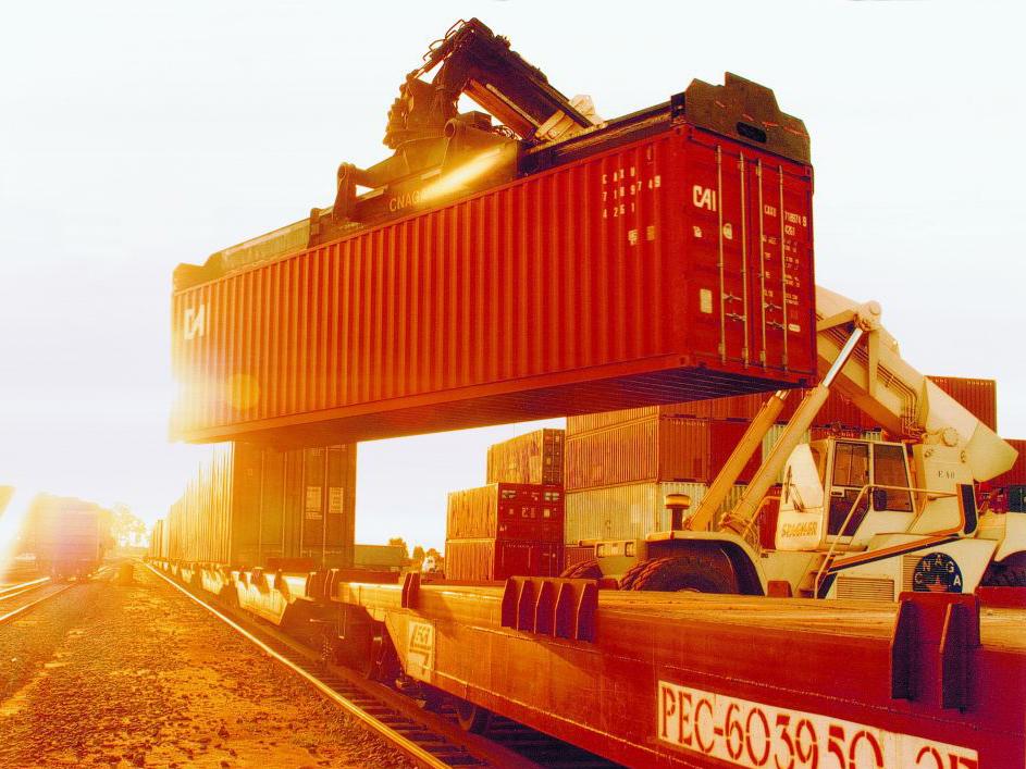 Carregamento de carga no modal ferroviário