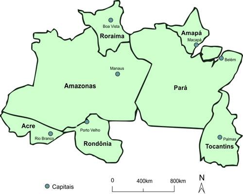 mapa do norte Região Norte   Portal Embrapa mapa do norte