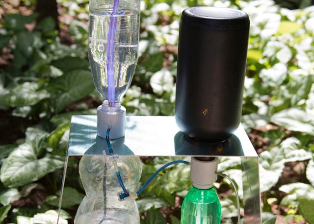 Pesquisador da Embrapa cria irrigador solar automático com garrafas usadas
