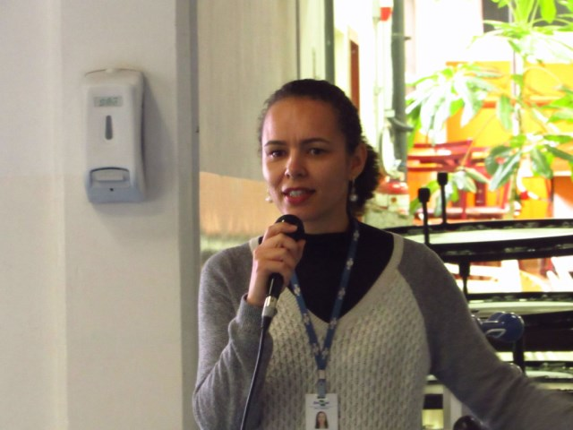 Arquivo Borboletário - Pesquisadora Jeanne Prado na palestra