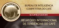 Bureau de Inteligência Competitiva divulga Relatório Internacional de Tendências do Café do mês de julho de 2016