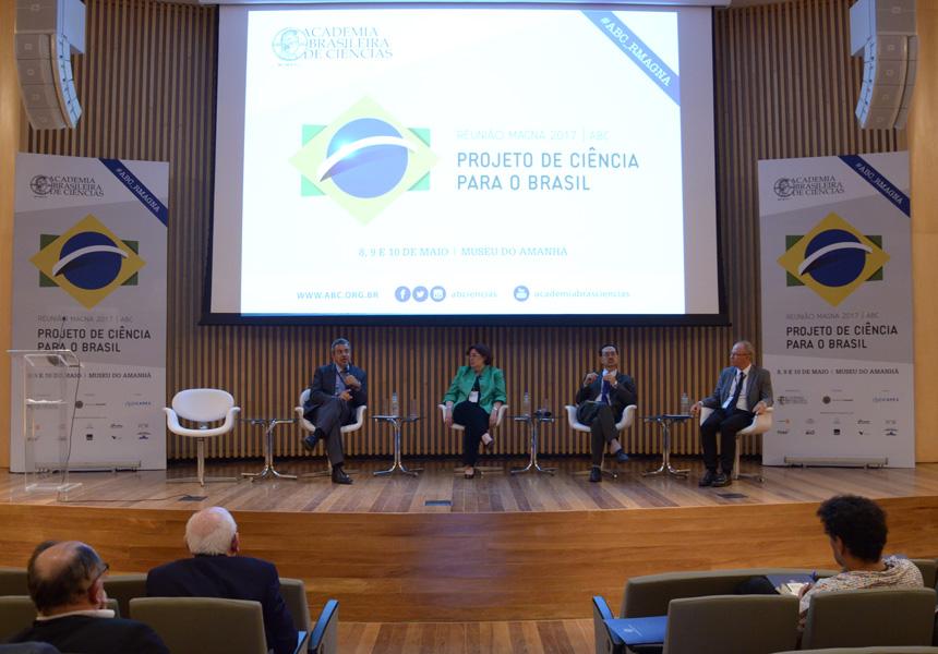 Divulgação ABC - Mauricio Lopes, Monica Porto, Edson Watanabe e Elibio Rech: água, energia e produção agrícola em harmonia