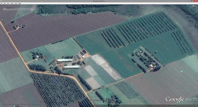Visualização do Google Earth - Vista de cima da fazenda modelo em São Gabriel do Oeste - MS