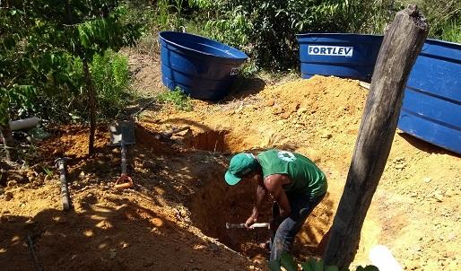 Semarh - Local sendo preparado para receber a Fossa Séptica Biodigestora