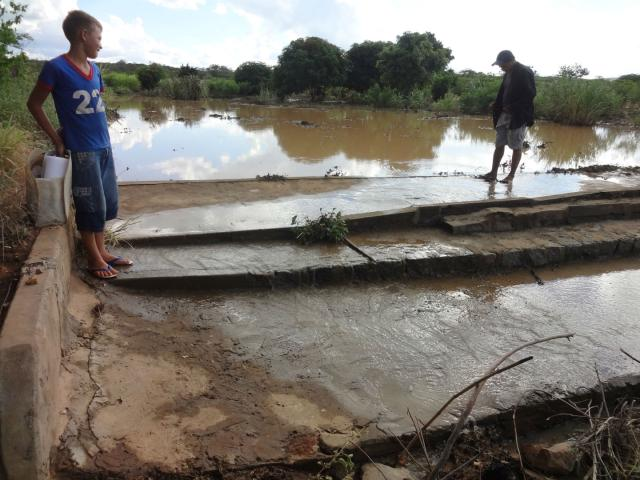 Embrapa Solos - Barragem subterrânea após chuva em Ouricuri (PE)