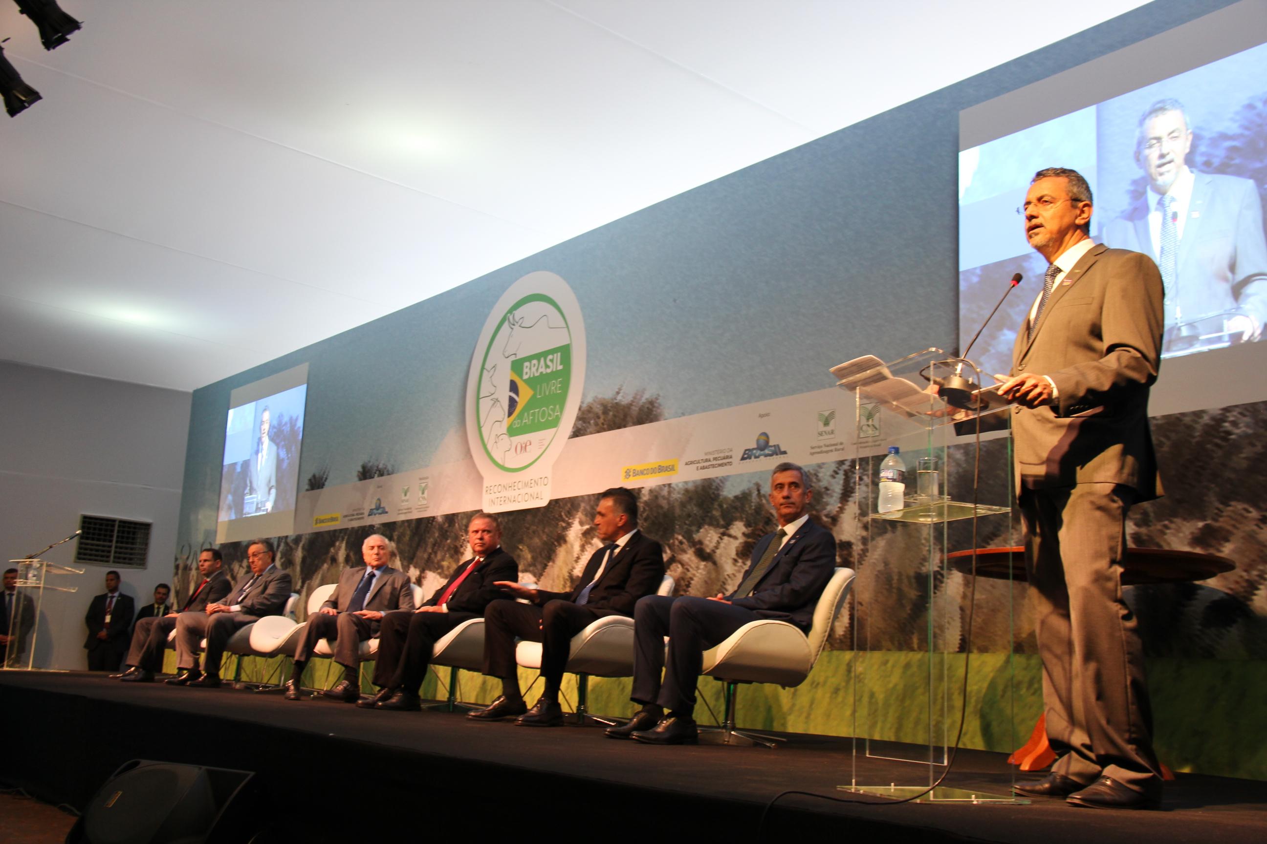 Kátia Marsicano - presidente Maurício Lopes destaca a importante contribuição da ciência na erradicação da febre aftosa