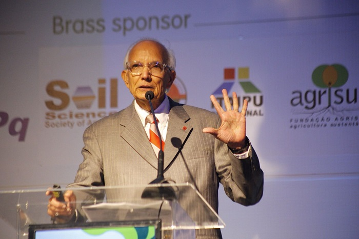 WCSS/Valeria Vieira - O presidente da União Internacional de Ciências do Solo, Rattan Lal, é um dos grandes nomes do congresso