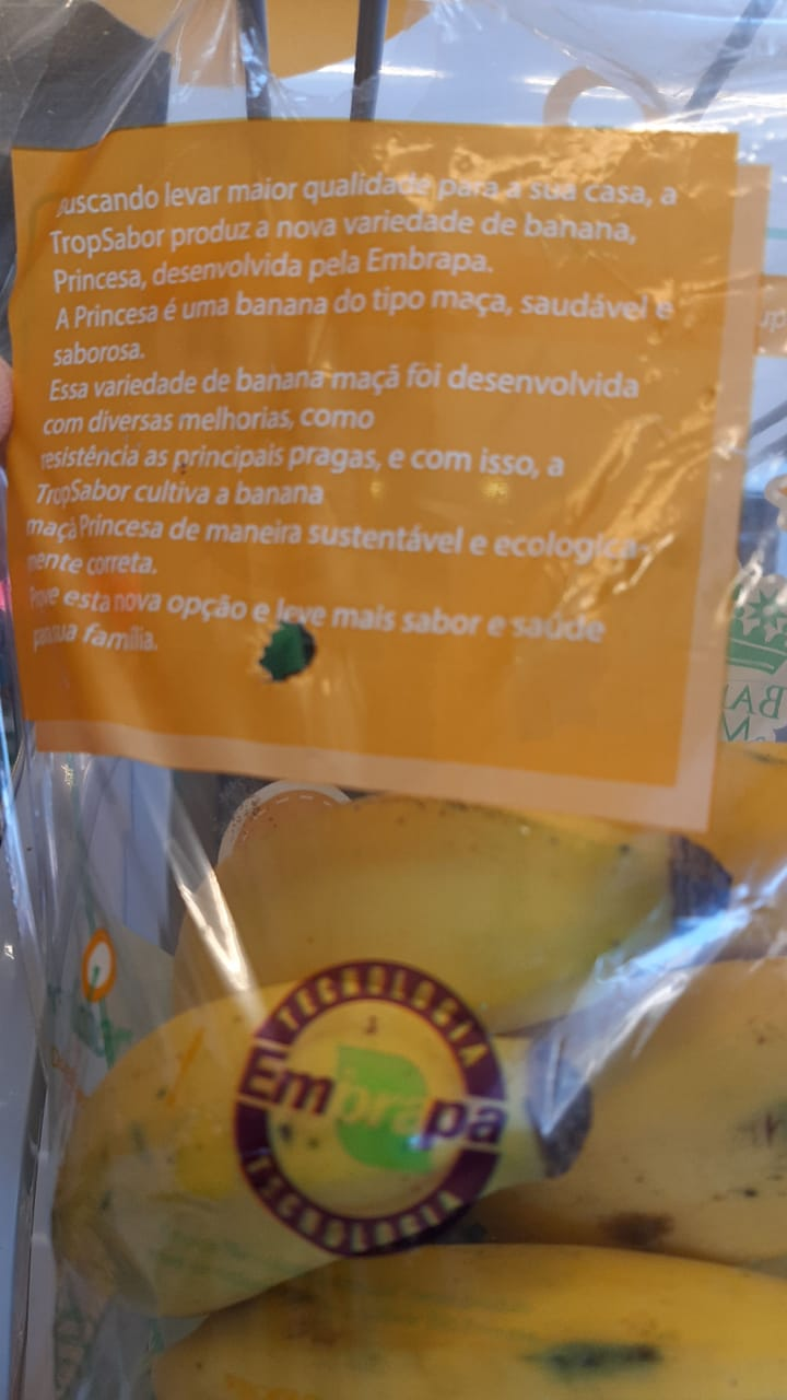 Tropsabor - Os frutos da BRS Princesa ganharam embalagem especial
