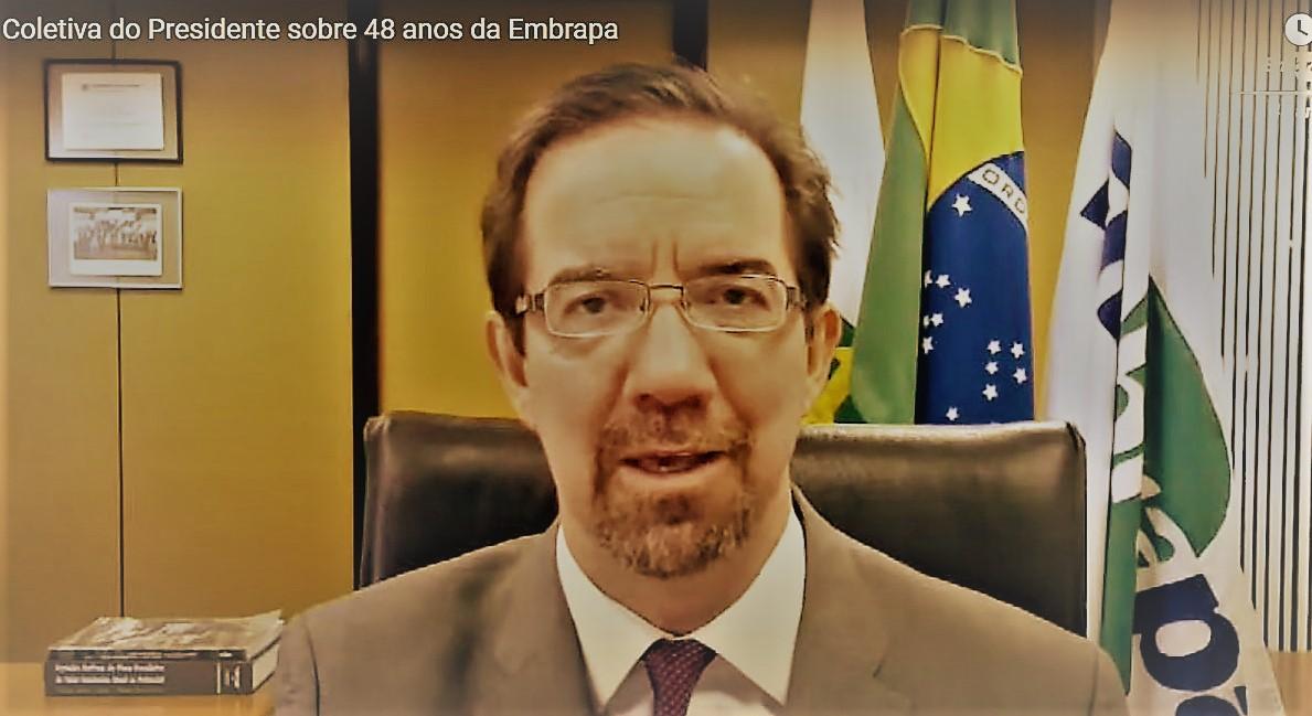 - Em coletiva para a imprensa, presidente da Embrapa anuncia os mais novos lançamentos da pesquisa agropecuária